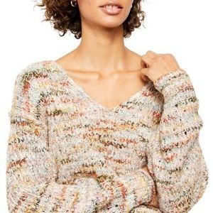 NWT FREE PEOPLE Highland V-Sweater, L